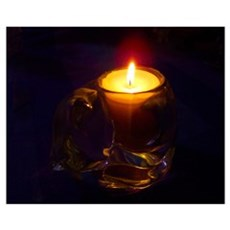 Romantic Cat Candle Wall Art Poster