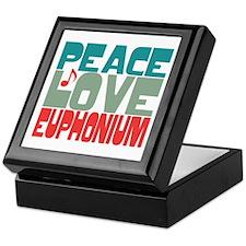 Peace Love Euphonium Keepsake Box