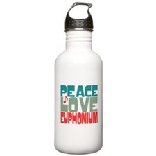 Peace Love Euphonium Water Bottle