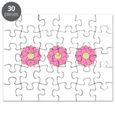 Pink and Yellow Flowers Puzzle