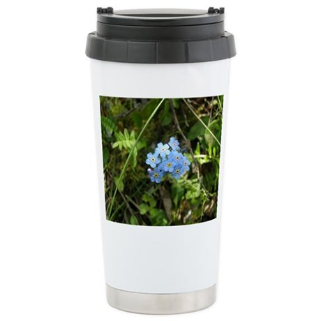 Forget-Me-Not #01 Stainless Steel Travel Mug