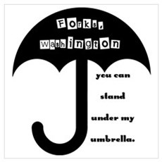 Stand Under My Umbrella Wall Art Poster