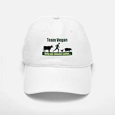 Team Vegan Baseball Baseball Cap
