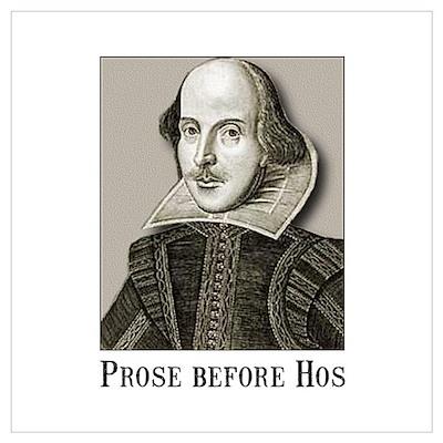 Shakespeare Hos Wall Art Poster