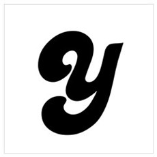 Fun Funky letter Y Wall Art Poster
