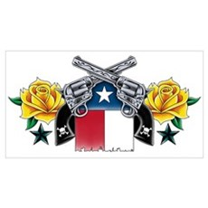 Guns & Yellow Roses Wall Art Canvas Art