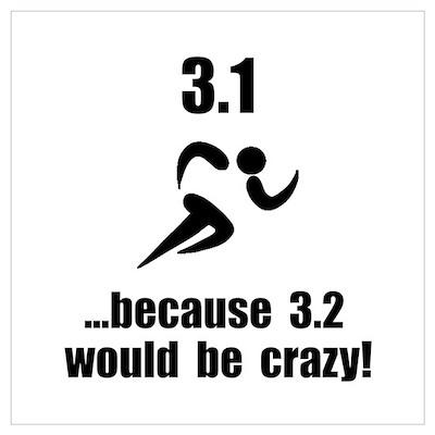 5K Run Crazy Wall Art Poster