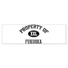 Property of Fukuoka Bumper Bumper Sticker