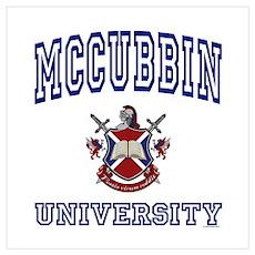 MCCUBBIN University Wall Art Poster