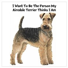 Airedale Terrier Wall Art Poster