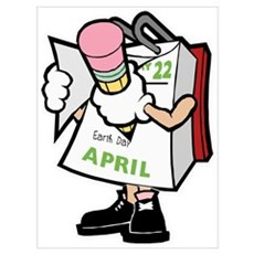 Earth Day April 22nd Calendar Wall Art Poster