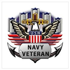 Official US Navy Veteran Wall Art Poster