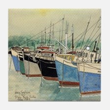 Digby N.S. Fishing Boats Tile Coaster