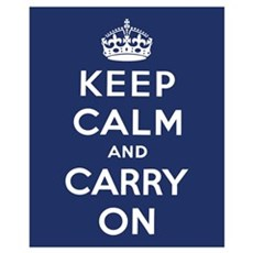Keep Calm and Carry On Wall Art Canvas Art