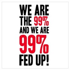We are the 99%... Wall Art Framed Print