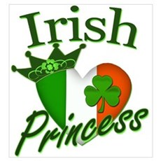 Irish Princess St Patricks Day Wall Art Canvas Art