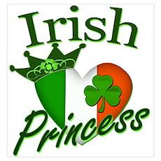 Irish Princess St Patricks Day Wall Art Poster
