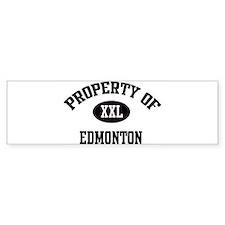 Property of Edmonton Bumper Bumper Sticker