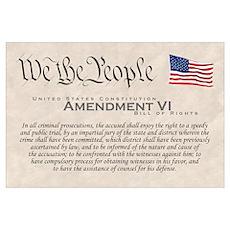 Amendment VI Wall Art Poster