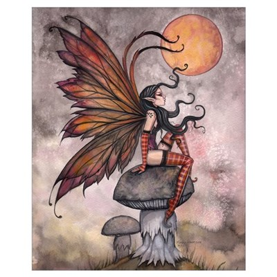 Autumn Fairy Wall Art Poster