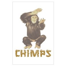 Chimpanzees Wall Art Poster
