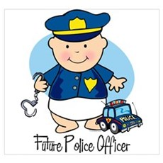 Future Police Officer Wall Art Framed Print