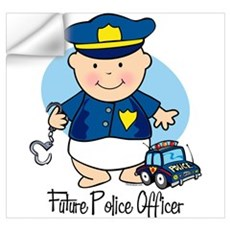 Future Police Officer Wall Art Wall Decal