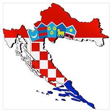 Croatia Map Wall Art Poster