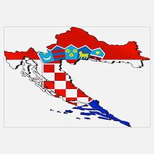 Croatia Map Wall Art