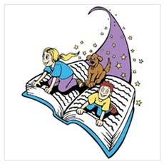 Image of a Story Book Wall Art Poster