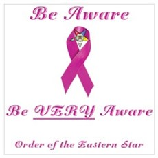 The OES Pink BC Ribbon Wall Art Poster