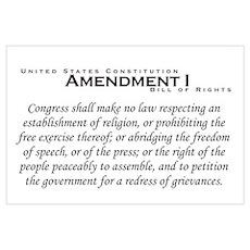 Amendment I Wall Art Poster