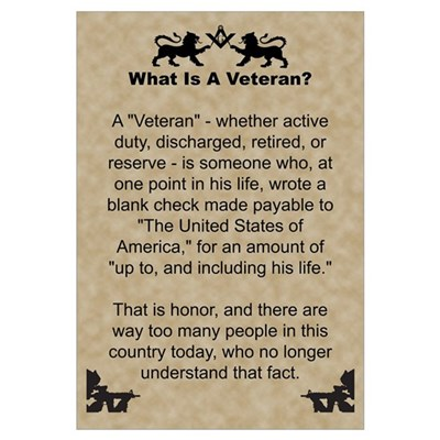 The Veteran Wall Art Poster