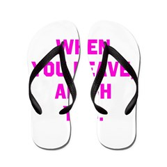 When you leave, Amish you. Flip Flops