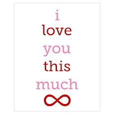 Infinitive Love Wall Art Poster