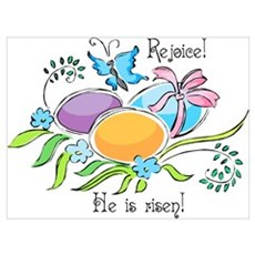 Easter Egg Rejoice Wall Art Canvas Art