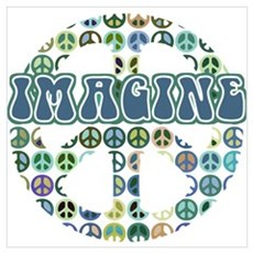 Cool 70s Retro Peace Wall Art Poster