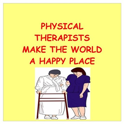 physical therapist Wall Art Poster