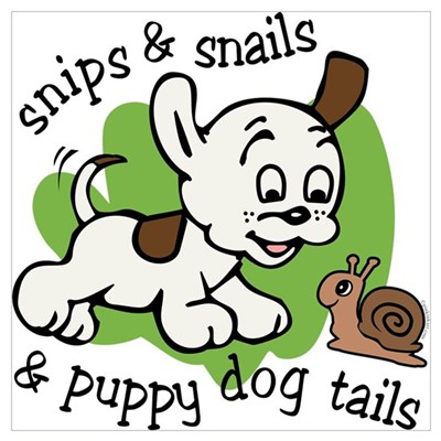 Snips & Snails Baby Wall Art Poster
