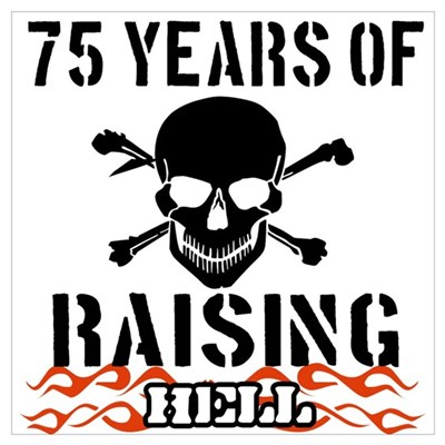 75 years of raising hell Wall Art Framed Print