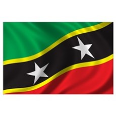 Flag of Saint Kitts and Nevis Wall Art Poster