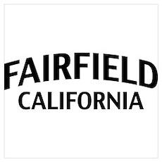 Fairfield California Wall Art Poster