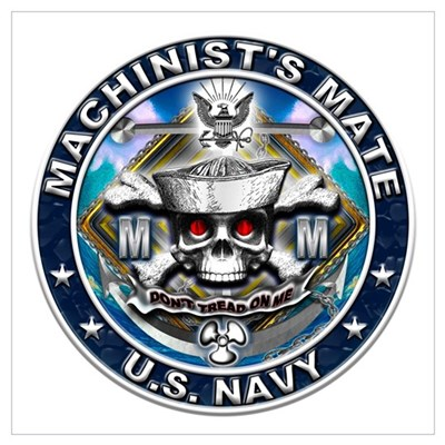 USN Machinists Mate Skull MM Wall Art Poster