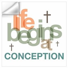Life Begins At Conception Wall Art Wall Decal