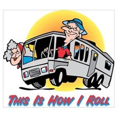 This Is How I Roll RV Wall Art Framed Print