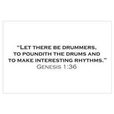 Drummer / Genesis Wall Art Poster