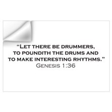 Drummer / Genesis Wall Art Wall Decal
