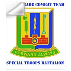 DUI - 3rd BCT - Special Troops Bn with Text Mini P Wall Decal