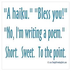 Sneeze: A Funny Haiku Wall Art Poster