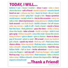 Thank a Friend Wall Art Framed Print